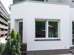 Struktur an Hausfassade
