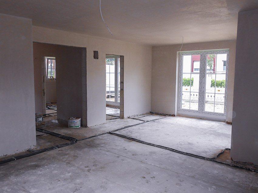 Innenputz im Neubau Wohnzimmer