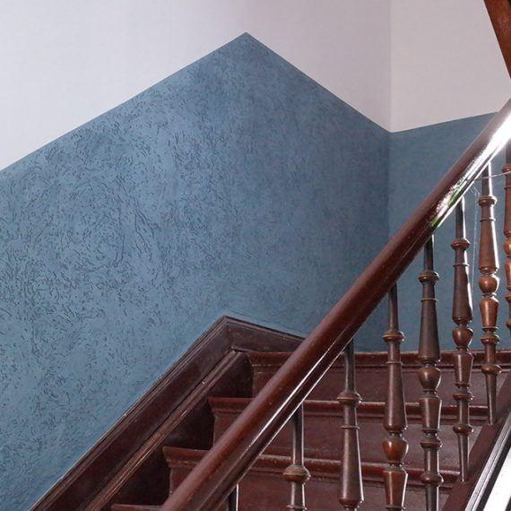 Reibeputz im Treppenhaus