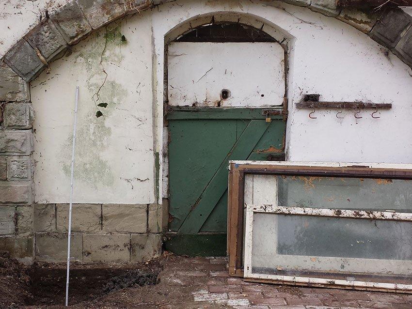 Restauration denkmalgeschützte Mauer vorher 1