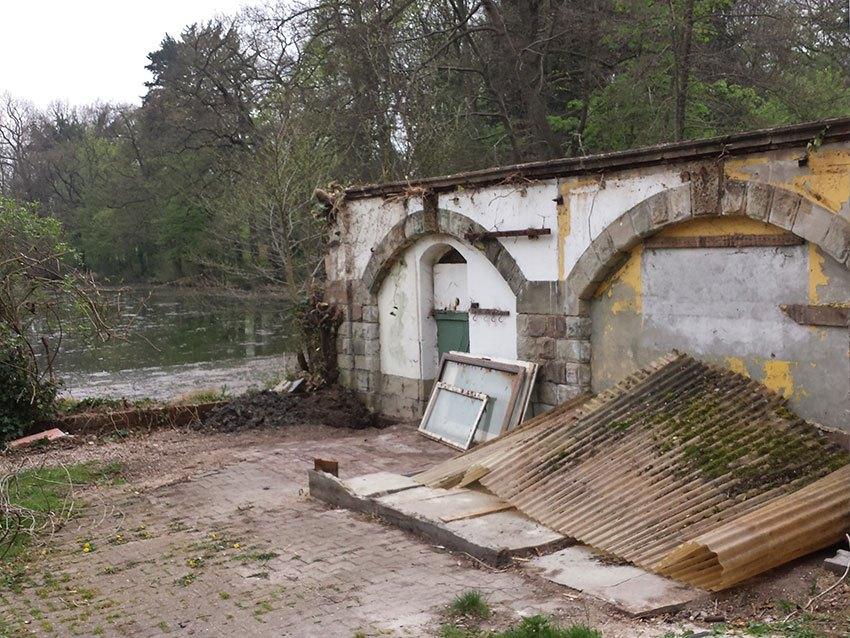 Restauration denkmalgeschützte Mauer vorher 2