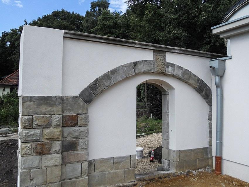 Sanierung Mauer verputzt