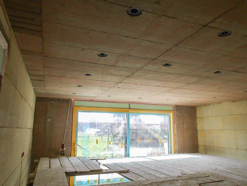 Wohnzimmer im Rohbau