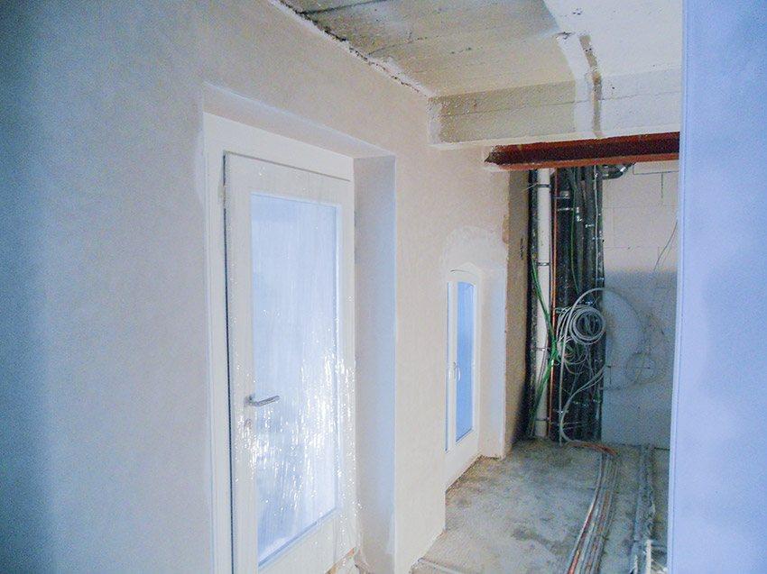 Kellerwand rekonstruiert nacher