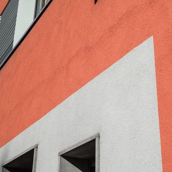 Wärmedämmverbundsystem an Fassade Beispiel